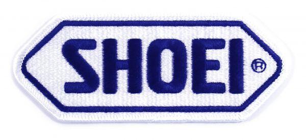 SHOEI Aufnäher weisse Basis_d. blau Logo