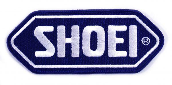 SHOEI Aufnäher blaue Basis_weisses Logo